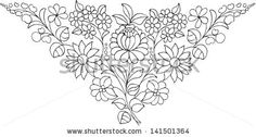 floral Hungarian Embroidery, Embroidery Needles, Crewel Embroidery, Embroidery Patterns, Free Motion Embroidery, Applique Templates, Art Drawings Sketches Simple, Chain Stitch, Folk Art