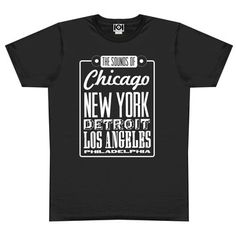 Sound Of City Tee Mens Black, $21, now featured on Fab.