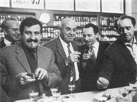 Fritz Baumgart, Günter Grass, John Dos Passos, Walter Höllerer, Heinrich Böll, Berlin von Max Jacoby