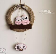 HaGi by Herzig ♥ Genaehtes: Mother`s Day Gift: Door Wreath