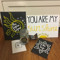 Phi Sigma Sigma Sorority Crafts Sunshine Sun You Are My Sunshine Big Little Reveal Clue