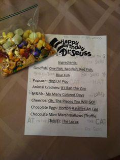 Cool Dr. Seuss snack idea.
