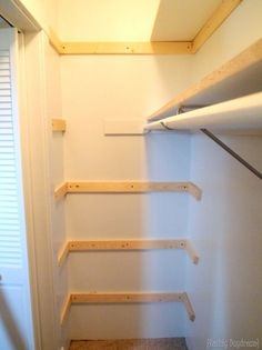 Awesome Adding Braces For Our DIY Custom Shelving In Our Builder Basic Closet!  {Reality Daydream