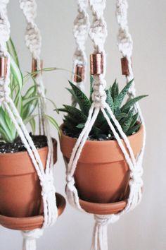 Trend Yvat Macram Plant Hanger Blumenampel using mm cotton rope Macrame Pinterest Cotton rope Ropes and Plants