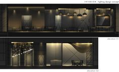 Cozy Interior Lighting Design By Steven Kurniawan At Coroflot - Twhq Commercial Design, Commercial Interiors, Light Architecture, Interior Architecture, Design Visual, Blitz Design, Architectural Lighting Design, Interior Design Presentation, Lighting Concepts