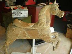 C 1890 Antique Carousel Wood Horse Charles w Dare Track Horse Very RARE | eBay