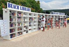 Heading to the beach anytime soon? This particular library is located at a Black Sea Resort in northeastern Bulgaria.  The titles are carefully selected for all tastes - world classics, thrillers, mysteries, romantic readings, and memoirs. #beach #summerreading #sandinmybook