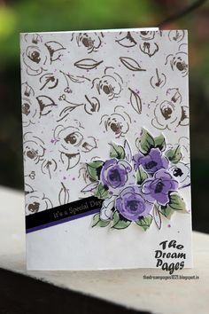 The Dream Pages: Altenew painted flower - First try