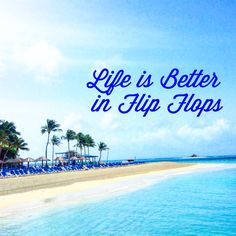 Life is always better in flip flops especially when you get to enjoy your own private island! Palomino island at El Conquistador Resort!