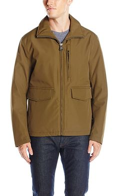 Marc New York by Andrew Marc Men's Newbury City Rain Funnel Neck Open Bottom, Grove, Large Best Price