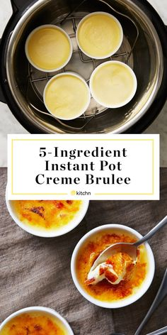 Crème Brûlée Is Officially the Best Dessert You Can Make in Your Instant Pot - Crème Brûlée Is Officially the Best Dessert You Can Make in Your Instant Pot - Instant Pot Pressure Cooker, Pressure Cooker Recipes, Pressure Cooking, Brulee Recipe, Instant Pot Dinner Recipes, Fun Desserts, Mason Jar Desserts, The Best, Ricotta
