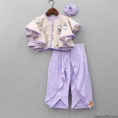 Pre Order: Pretty Purple Top And Palazzo Frocks For Girls, Dresses Kids Girl, Kids Outfits, Kids Dress Wear, Kids Gown, Kids Wear, Kids Ethnic Wear, Kids Party Wear, Kids Blouse Designs