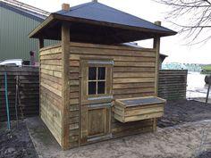 Hooiberg kippenverblijf dierenverblijf op maat gemaakt van hout! www.vanviegen.com