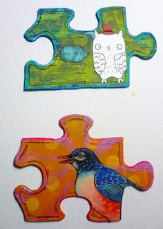 Completed Art Puzzle Art Therapy Finds Community Board