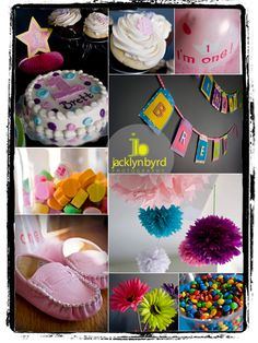 1st birthday, my best friend Jackie is a wonderful photographer is this is a collage of what she did for my daughters first birthday!