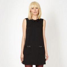 H! by Henry Holland Designer black textured PU collar dress- at Debenhams.com, £32