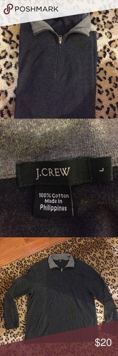 🔹J. Crew half zip size Large Excellent shape 100% cotton J. Crew Shirts Sweatshirts & Hoodies