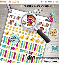 60%OFF - Payday Stickers, Printable Planner Stickers, Pay day Stickers, Money, Erin Condren, Kawaii Stickers, Planner Accessories, Cute Stic