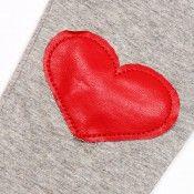 Leggings med applikert hjerte