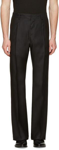DSQUARED2 Black Wide-Leg Trousers. #dsquared2 #cloth #trousers