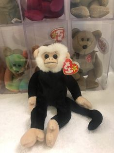 75a06182637 TY MOOCH THE MONKEY BEANIE BABY - MINT with MINT TAGS  Ty Ty Babies