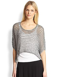 Eileen Fisher Open-Weave Boxy Sweater Chalecos Tejidos 5d7422440445e