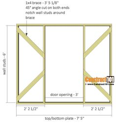 Greenhouse plans, 8'x8', front/back walls.