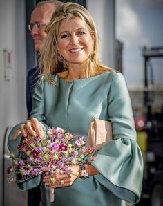On October 3, 2017, Queen Maxima of The Netherlands attended the King Willem I entrepreneurship lecture at the Koppert Cress in Westland, The Netherlands. Queen Maxima is the honorary chair of the King Willem I foundation. The foundation aims to raise awareness about positive developments in the Dutch economy.