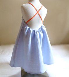 Linen High Neck Tank Dress