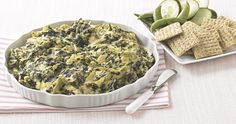 It's not a game without Spinach and Artichoke dip!