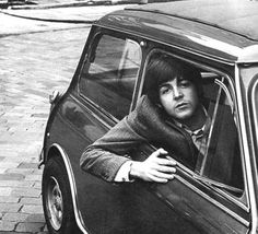 Paul McCartney with his Mini car in 1965. 1965 Radford Mini Cooper S Paul McCartney wasn't the only Beatle to own a Mini. Paul was often spotted around London in his Mini during the band's peak years from 1965 to 1970, and it was in this Mini that Macca drove his future wife Linda Eastman back to his place from Soho on the night he first met her in 1967.