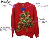 51 life saving holiday hacks that are borderline genius pinterest my thrifty chic diy ugly christmas sweaters abby christine hooper you ready to make solutioingenieria Choice Image