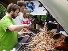 Pig Pickin' at NC State University - recipe for cooking a pork shoulder in the oven or on a gas grill