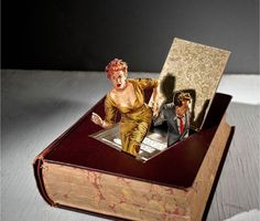 Murder Mystery - The amazing cut out book art by Thomas Allen
