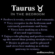 Taurus in the bedroom.