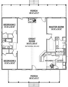 Custom House Home Building Plans 3 bed Split Ranch FULL PERMIT SET. Widen great room to add stairs down then add two additional bedrooms, rec room with kitchenette and storage room. The Plan, How To Plan, Pole Barn House Plans, Pole Barn Homes, Shop House Plans, Dog Trot House Plans, Cabin House Plans, Pole Barns, Tiny Cabin Plans