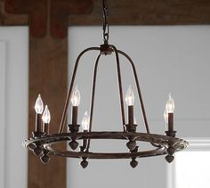 Barrett Glass Globe Chandelier | Pottery Barn For Globes For ...