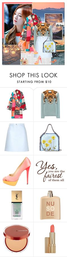 """Simply Divine"" by rainie-minnie ❤ liked on Polyvore featuring Roksanda, Carven, STELLA McCARTNEY, Charlotte Olympia, Yves Saint Laurent, COSTUME NATIONAL, Estée Lauder, women's clothing, women's fashion and women"