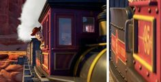 The red and yellow 95 might is a shout out to Lightning Mcqueen (Toy Story 3)