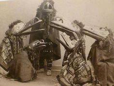 North west coast native Americans, ceremonial masks and costumes