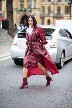 On the street at London Fashion Week. Photo: Chiara Marina Grioni