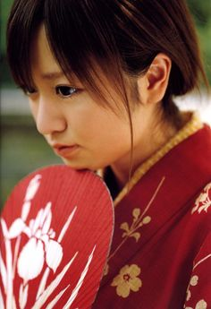 Konno Asami in kimono.  Konno is a Japanese pop singer and actress.
