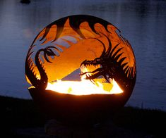 Pendragon's Hearth Dragon Fire Pit. This is cool looking. Need to make one.