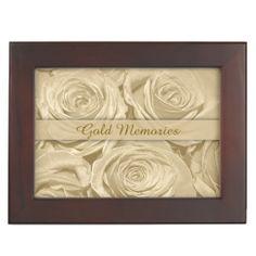 Rose Memories Golden Anniversary Keepsake Box by Sand Creek Ventures