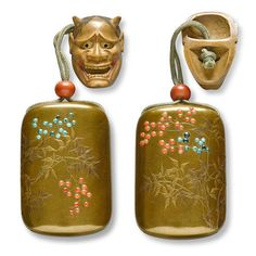 A four-case lacquer inro By the Kajikawa family, Edo period century) Japanese Words, Japanese Art, Edo Period, Shades Of Gold, Tea Caddy, Objet D'art, Japanese Beauty, Asian Art, 19th Century