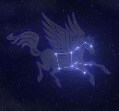 Pegasus Constellation, Celestial Sphere, Mount Olympus, Small Planet, Winged Horse, Horse Fly, Star Cluster, In Ancient Times, Greek Mythology