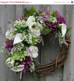 Year End Clearance Sale Summer Wreath by NewEnglandWreath on Etsy, $119.25