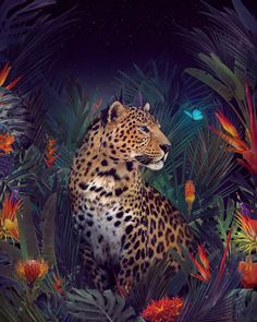 Swedish artist Andreas Häggkvist creates impactful images in an effort to raise awareness about global warming and endangered animal species. Animals And Pets, Baby Animals, Cute Animals, Wild Animals, Animal Species, Animal Wallpaper, Jaguar Wallpaper, Wildlife Art, Big Cats
