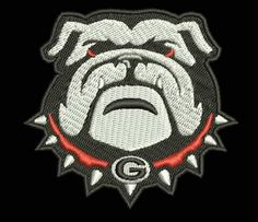 Georgia Bulldogs Football Team Embroidered Patch