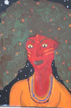Maria com Guias, tinta a óleo sobre tela, 2012, por Jéssica Batista.